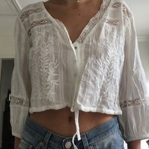 free people white crop top
